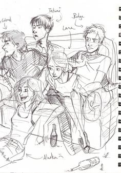 LFA by ~Win-E on deviantART OMG I just got this! It's all the characters from John Green's book Looking for Alaska