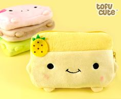 Buy Kawaii Hannari Tofu Plush Zipped Coin Purse at Tofu Cute