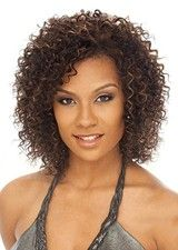 Vibrant Short Curly Synthetic Lace Front Afro Wig