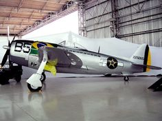 Presentation of the P-47 in TAM Museum (1122005): P-47D-25-RE 42-26760 sn restored and painted in the colors of the B-5 (sn 42-29265) with which the Commander Rocha flew most of its 75 missions in World War II