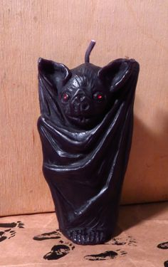 Red Eyed Vampire Bat Candle  Beeswax Candle  by MonsterCandlesShop