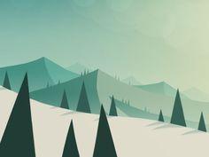 flat illustration landscape - Google Search