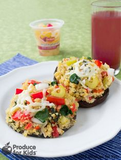 Cheesy Quinoa Stuffed Mushrooms | Produce For Kids
