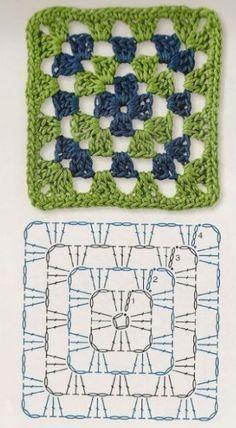 Delicadezas en crochet Gabriela: Patrones gratis ; Cuadrados de la abuela ganchillo