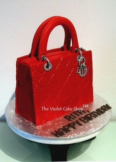 1e39e5bb247b LADY DIOR Purse Cake - by thevioletcakeshop   CakesDecor.com - cake  decorating website Handbag