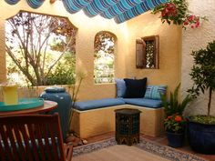 Mexican influence for the outdoor kitchen.