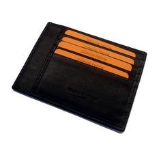 Giorgio fedon Thin Card Holder Black