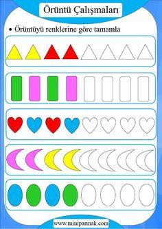 Preschool Learning Activities, Preschool Worksheets, Kids Education, Kindergarten, Crafts, Homeschooling, Kids Activity Ideas, Early Education, Colors