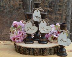 family unity candle holders , rustic wedding unity candle set, burlap wedding decor, set of 3
