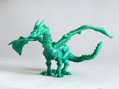 "Shira designed the remarkable ""Braq"" Jointed Dragon for bqLabs and, of course, for you. If you're up for a challenge and have some elastic cord available to connect the 42 pieces, you should start printing Braq right now. Don't forget the articulated head add-on."
