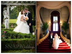 Rosecliff Wedding, Rose Garden, Sweetheart Staircase, Bride and Groom,  ©Snap! Weddings