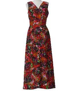 1970's Womens Knit Maxi Dress