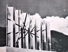 Perforated Space Divider Screen Models // Herbert Bayer