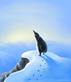 Разные птичи грустят по-разному. Некоторые идут туда, где повыше, и тупят в небо.
