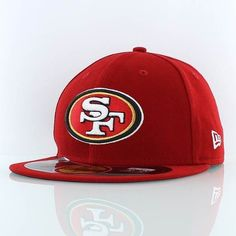 NFL Mens San Francisco 49ers On Field 5950 49ers Red Game Cap By New Era by New Era. $30.99. 100-Percent Polyester. This On Field 59Fifty Is The Official On-Field Cap of National Football League and Is Worn by Every National Football League Player. Performance Is Enhanced Through Coolera Technology Featuring Revolutionary Wicking, Superior Drying, and Shrink Resistance. Designed with An Embroidered (Raised) Team Logo At Front and Stitched National Football League Logo P...