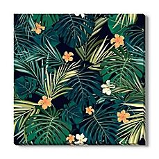 Tropical Leaves II Canvas Wall Art