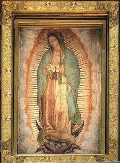 Imagem original do manto de Nossa Senhora de Guadalupe, no México (Reprodução)