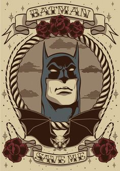 traditional tattoo flash batman | Batman - Batman Fan Art (34298262) - Fanpop