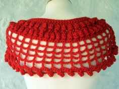 Red Cleopatra Capelet shawl Wrap Crochet Pattern by Thesunroomuk