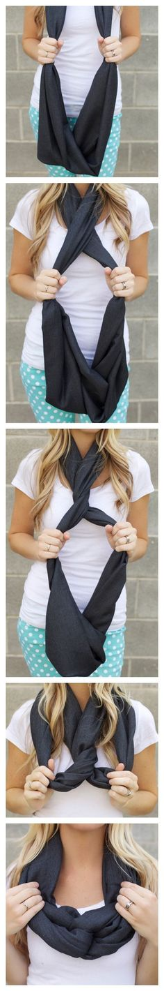 Another way to tie an infinity scarf by bego fenix