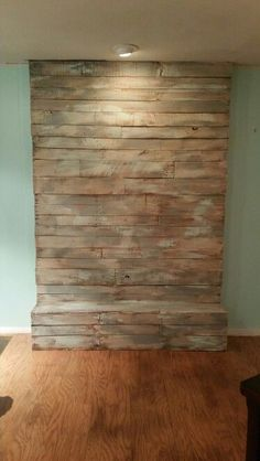 diy reclaimed wood wall a little high heat spray paint and