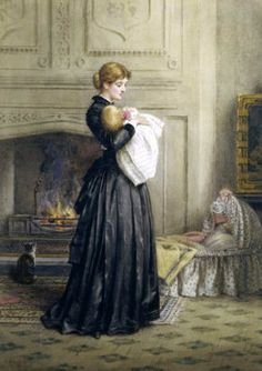 George Goodwin Kilburne (1839 – 1924, English) - Special moments