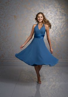 blue bridesmaid dresses #1