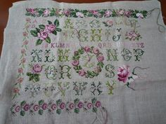 rose sampler dmc - Google Search Embroidered Roses, Google Search