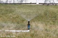 Simple DIY PVC Sprinkler www.thecraftyblogstalker.com How to Make a PVC Pipe Sprinkler