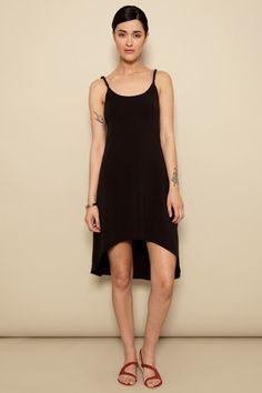 Black twist-strap dress – Pima Doll