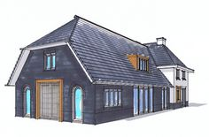Villa, New Builds, Black House, House Plans, Shed, Outdoor Structures, Restaurant, House Design, Cabin