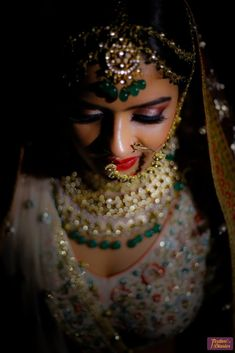 """Photo from album """"Wedding photography"""" posted by photographer FestiveDiaries Bridal Make Up, Wedding Make Up, Genelia D'souza, Red Lip Makeup, Bridal Poses, Bridal Makeup Looks, Asian Bride, Wedding Preparation, Gold Choker"""