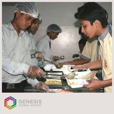 The Central Dining Hall at Genesis is not just grand in scale and quality, but also it provides a nutritious and healthy diet to the students.