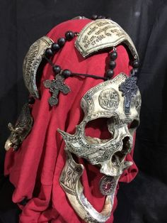 War Chaplain - REAL Human Skull Carved by Zane Wylie