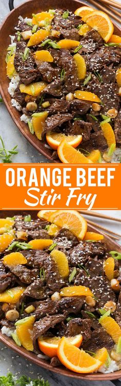 Make your own take-out with this recipe for orange beef stir fry. The sauce only has 4 ingredients!: Make your own take-out with this recipe for orange beef stir fry. The sauce only has 4 ingredients! Meat Recipes, Asian Recipes, Cooking Recipes, Healthy Recipes, Recipes Dinner, Orange Beef, Beef Stir Fry, Orange Recipes, Asian Cooking