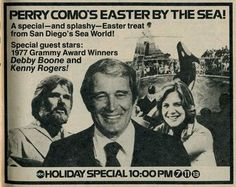 Perry Como, the famously bland singer, hosted a batch of holiday specials on the networks through the 1970s.