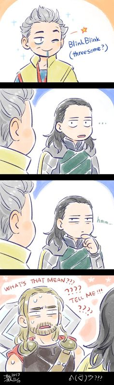 Thor: Ragnarok || Thor,Loki,En Dwi Gast (The Grandmaster) - God of sparkles