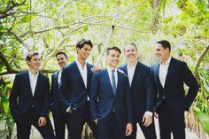 groom and groomsmen - photo by Ariel Renae Photography http://ruffledblog.com/beach-destination-wedding-in-tulum