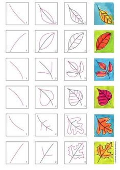 Fall Leaves Drawing, Leaf Drawing, Draw Leaves, Elementary Art Rooms, Art Lessons Elementary, Fall Art Projects, Halloween Art Projects, Fall Drawings, Leave Art
