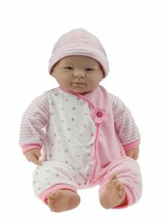 JC Toys 20 inches  La Baby by JC Toys Group, Inc.. $29.99. 19-21 inches Long. Includes matching pillow. Scented Doll. Play dolls. Soft Body Doll. From the Manufacturer                2 years up. Cute baby doll features sweet assorted expressions and soft huggable body. The doll measures between 19-21 inches when stretched to it's full length depending on expressions, size of the head, etc. and 20 inches is an approximation.                                     Pro...