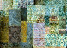 """Culcita Emerald"" designer wallpaper www.blackpop.co.uk"
