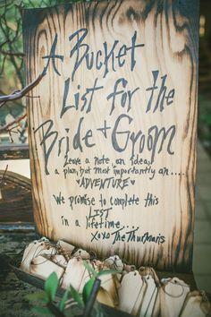 bucket list bride and groom wedding