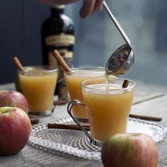 Warm up on cool fall nights with a hot Spiked Mulled Cider.