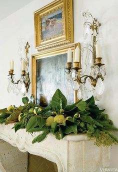 Pears, Lemons, Limes & Magnolia Branches VERANDA Magazine, Interior Design by Vintage Living-Lisa Luby Ryan, Photo by Erica Georges Dines