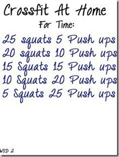 Added .5 mile run at beginning and end and added sit-ups after push-ups (same number at air squats)