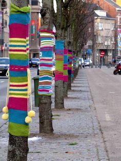 Hasselt street art & graffiti - street knitting by _Kriebel_, via Flickr