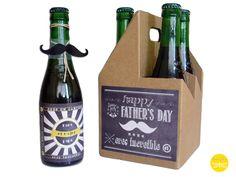 Dia del padre, caja de cervezas, kit de manualidad de Tohavefundesign por DaWanda.com
