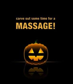 Happy Halloween! Carve out some time for a massage at  Inis Spa - Surf City, NC www.inisspa.com