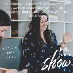Katie Kurtz on Being Your True Self, Honoring the Fear & Reclaiming What's Real - The Kelly Trach Show Podcast Self, Author, Lettering, Business, Movies, Movie Posters, Films, Film Poster, Writers