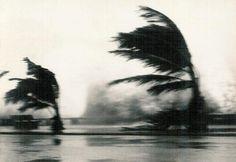 A Estrada Marginal de Lourenço Marques no dia 5 de Janeiro de 1966, quando o Claude assolou a capital de Moçambique.